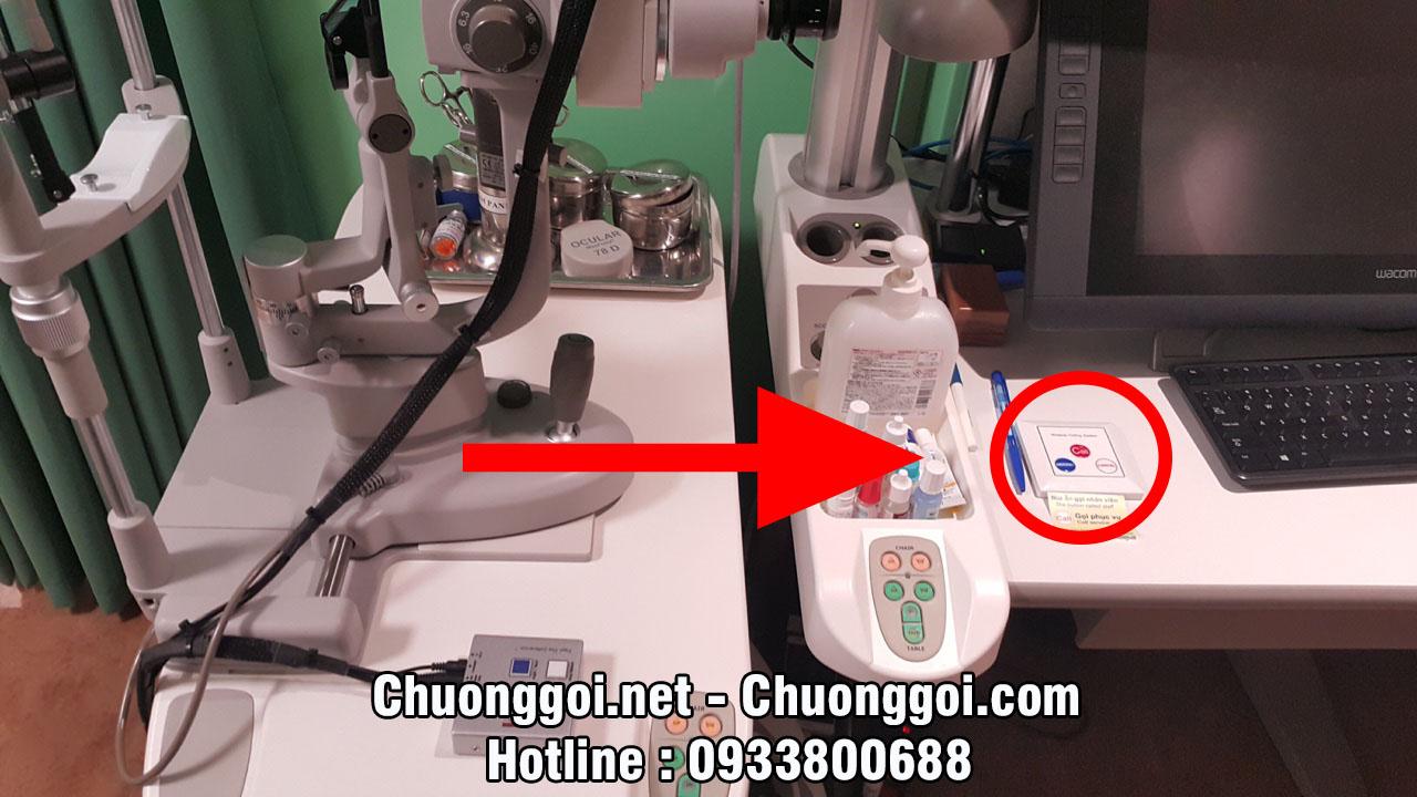 Nút chuông gọi y tá tại bệnh viện mắt quốc tế nhật bản