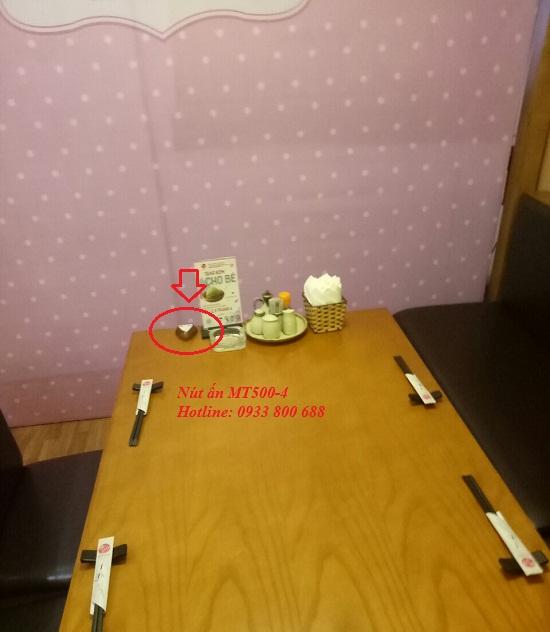 Nhà hàng Akaari lắp đặt chuông gọi phục vụ